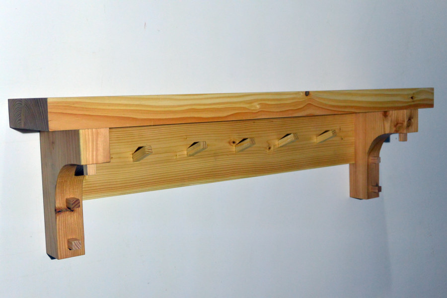 Swell Douglas Fir Coat Rack With Shelf Machost Co Dining Chair Design Ideas Machostcouk